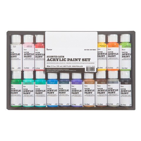 Acrylic Paint Set Satin 2oz 16pc