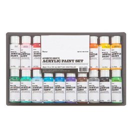 Darice Acrylic Paint Set Matte 2oz 16pc