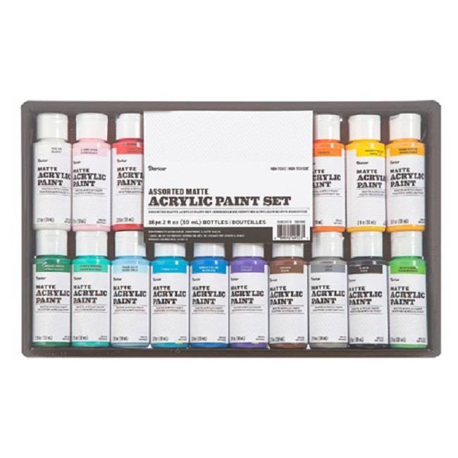Acrylic Paint Set Matte 2oz 16pc