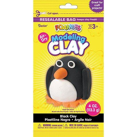 Foamies® Foam Modeling Clay - Black - 4 oz