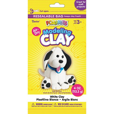 Foamies® Foam Modeling Clay - White - 4 oz