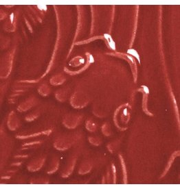 Amaco Low Fire Gloss Glaze Intense Red LG-57