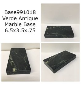Marble Base 6.5x3.5x.75 Verde Antique #Base991018