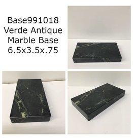 Marble Base 6.5x3.5x.75 Verde Antique #Base991018