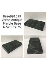 Marble Base 6.5x3.5x.75 Verde Antique #Base991019
