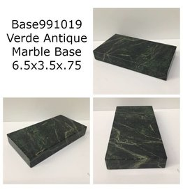 Marble Base 6.5x3.5x.75 Verde Antique #Base991019