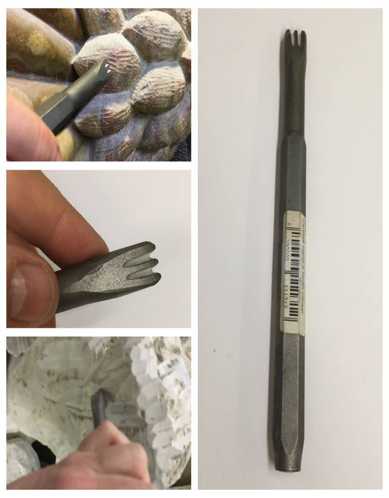 Milani Carbide Hand 3 Tooth Chisel 12mm