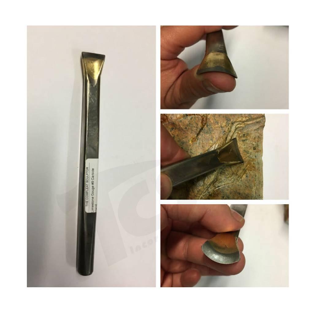 Limestone Gouge #9 Carbide Hand