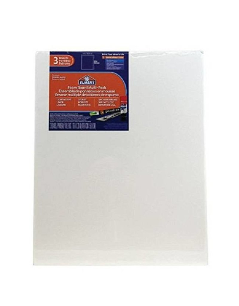 "Elmer's White Foam Core 16"" x 20"" x 3/16"" 3pc"
