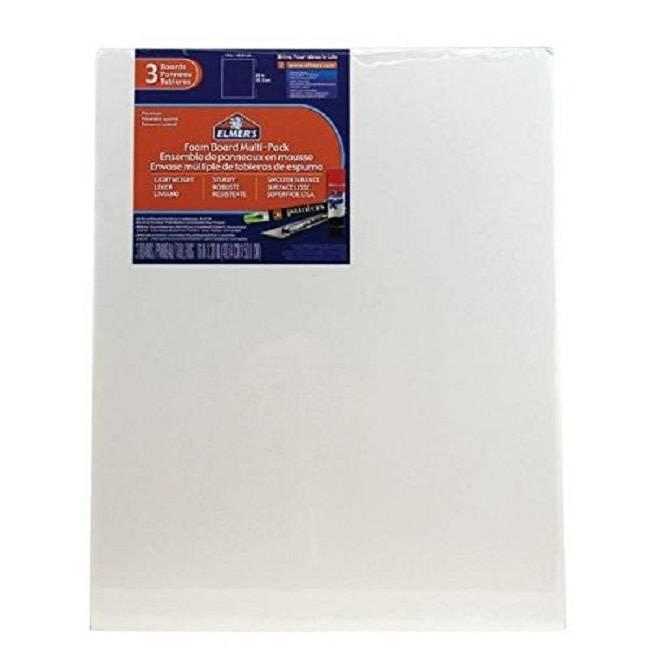 "Elmer's White Foam Core 16"" x 20"" x 3/16"" 3pc"