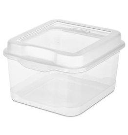 Clear Flip Top Storage Box