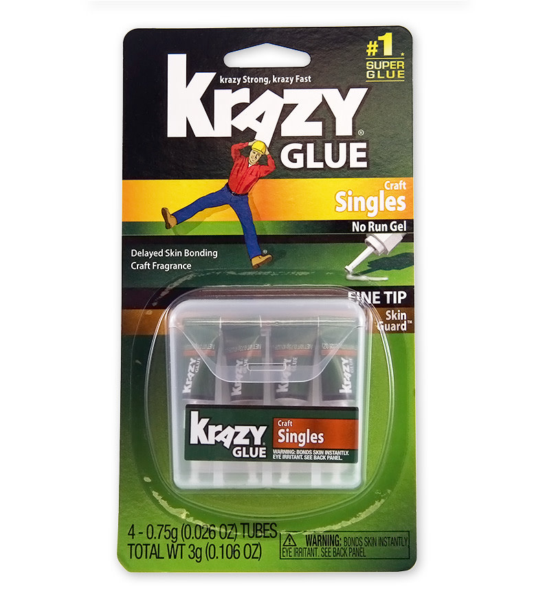 Krazy Glue Krazy Glue w/Skinguard Single Use 4pk