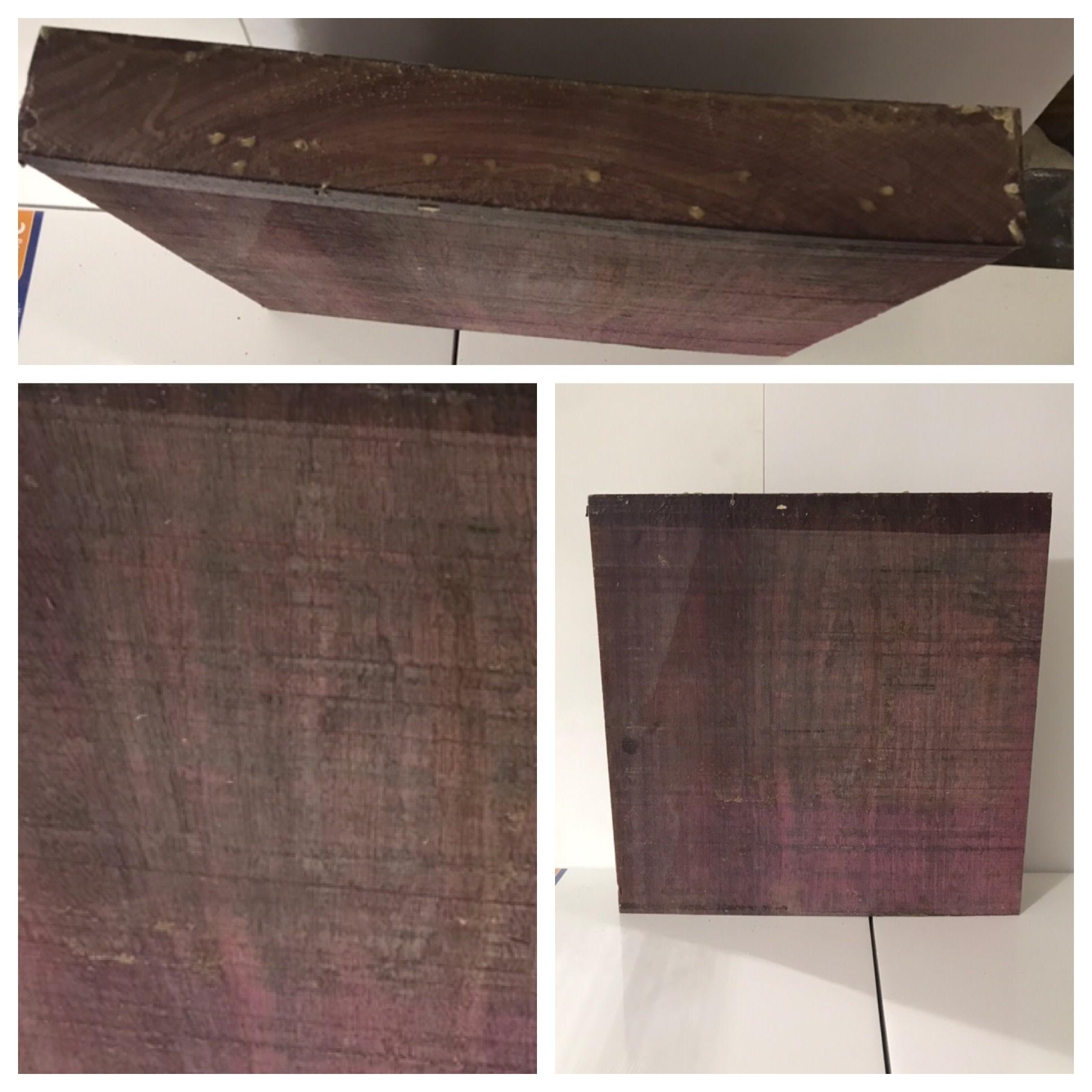 Wood Purpleheart Block 15x15x2