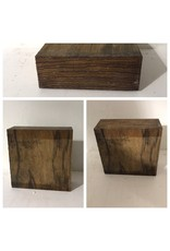 Wood ZebraWood Block 6x6x2