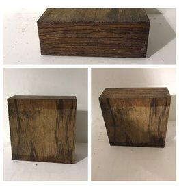 Wood Wood ZebraWood Block 6x6x2