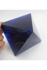 Large Blue Smelt Quartz Crystal Pyramid Point