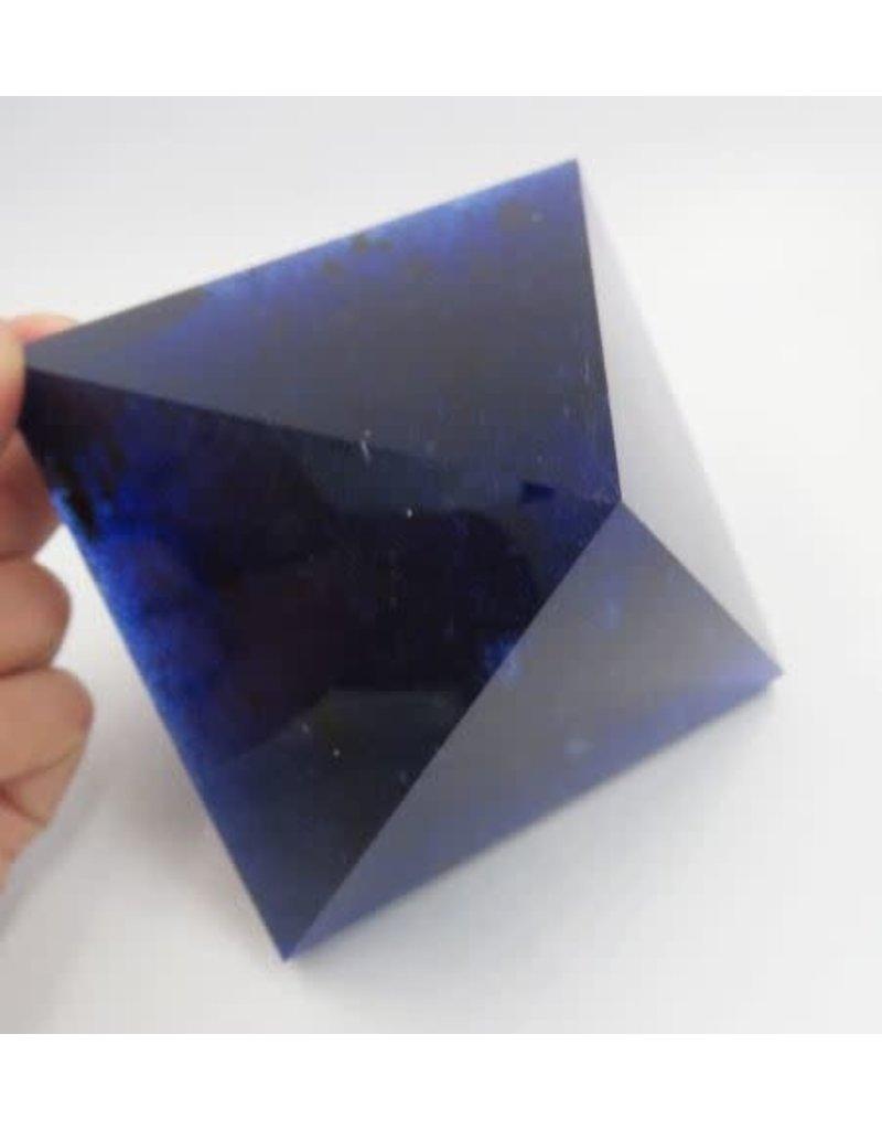 Stone Large Blue Smelt Quartz Crystal Pyramid Point