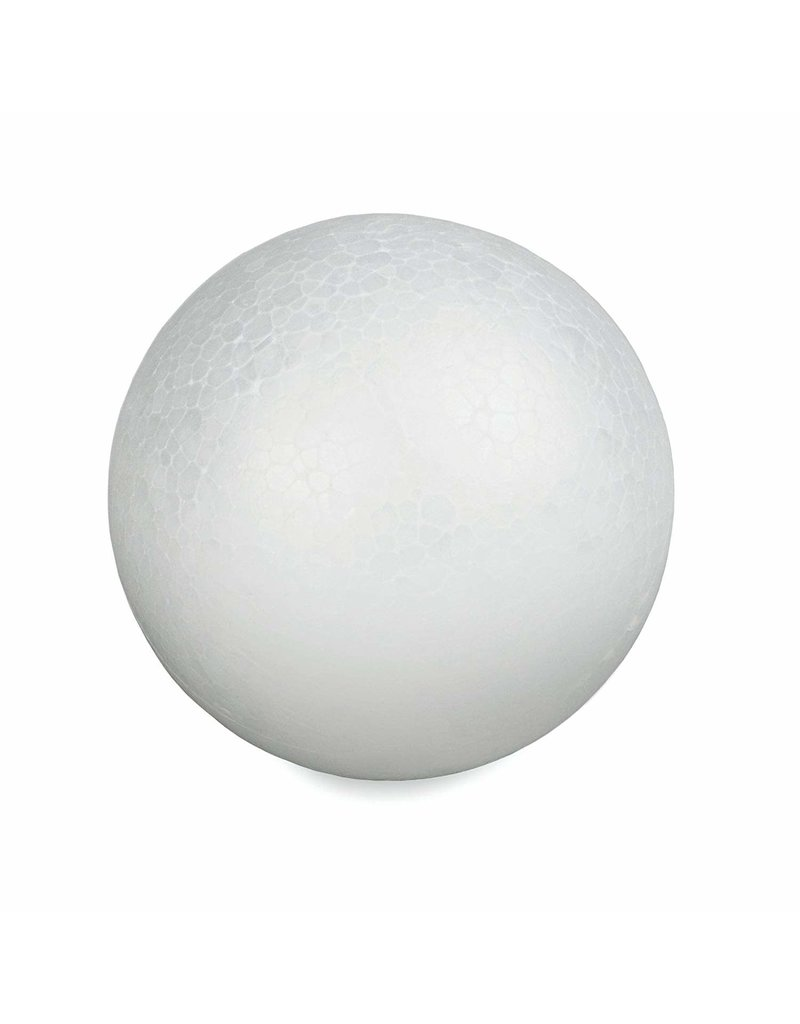 White Bead Foam Ball 6''