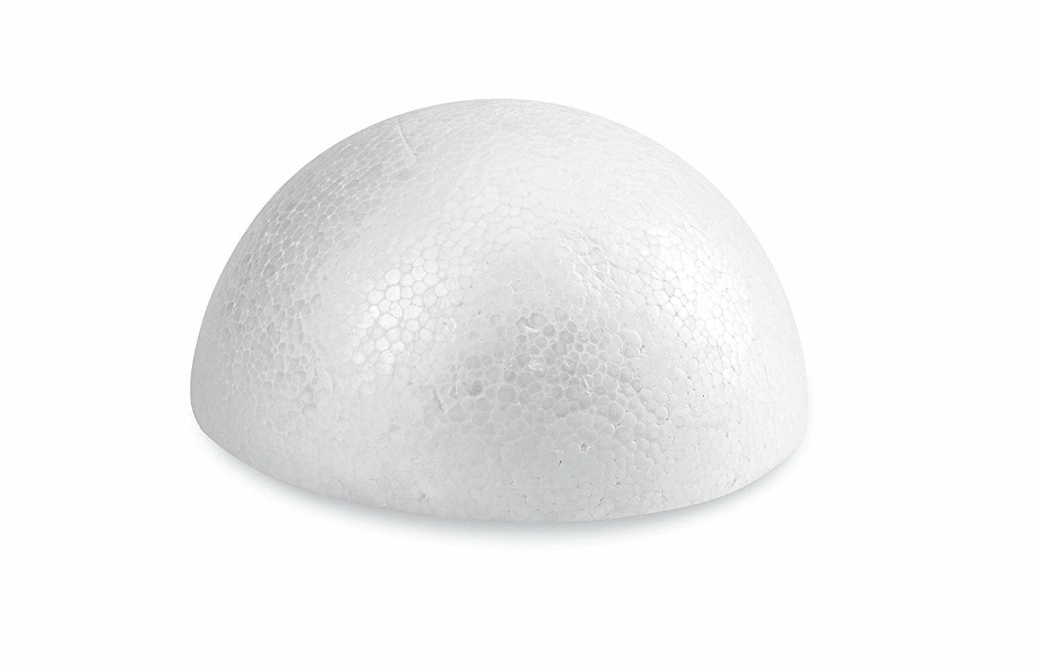 White Bead Foam Half-Ball 2''x4.5""