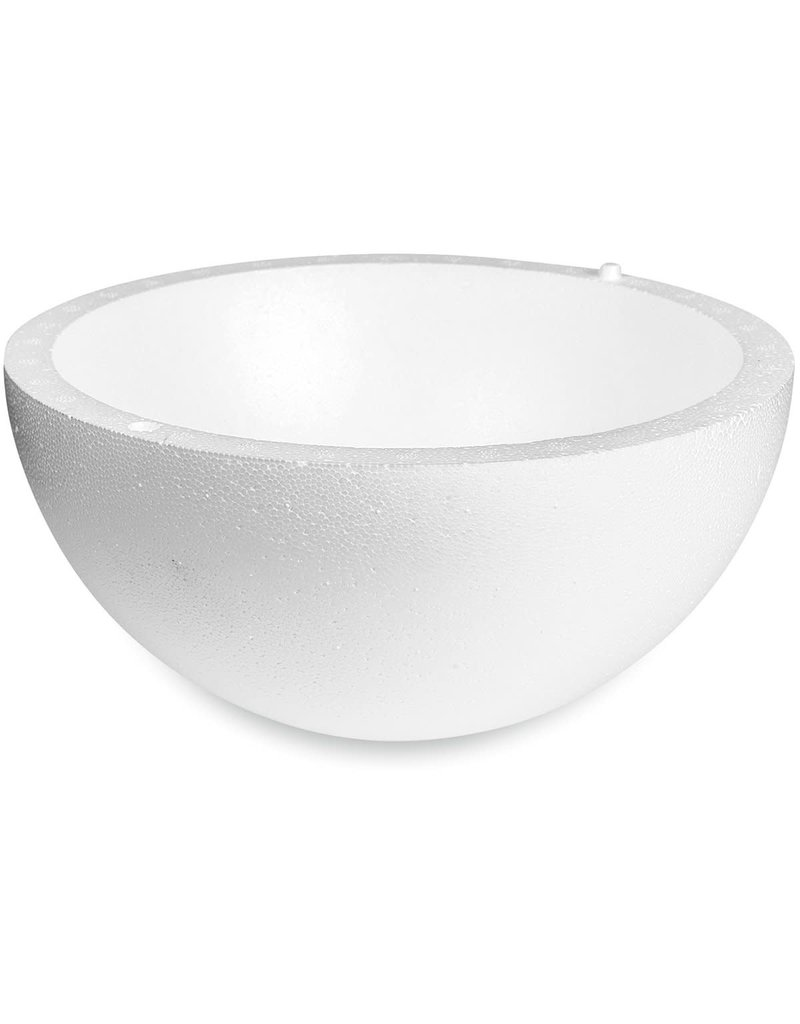 "White Bead Foam Hollow Half-Ball 4''x8"""