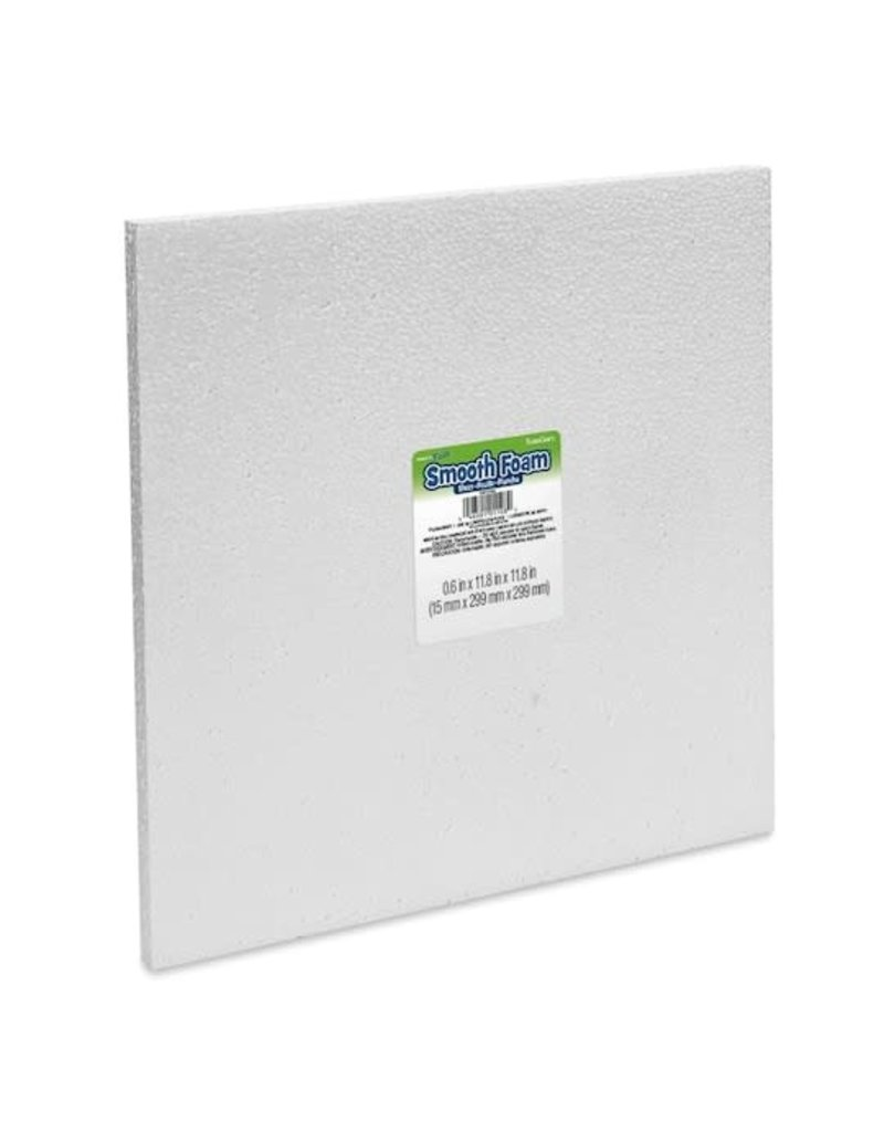 "White Bead Foam Block 0.5''x12""x12"""