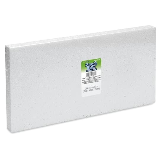 "White Bead Foam Block 1''x6""x12"""