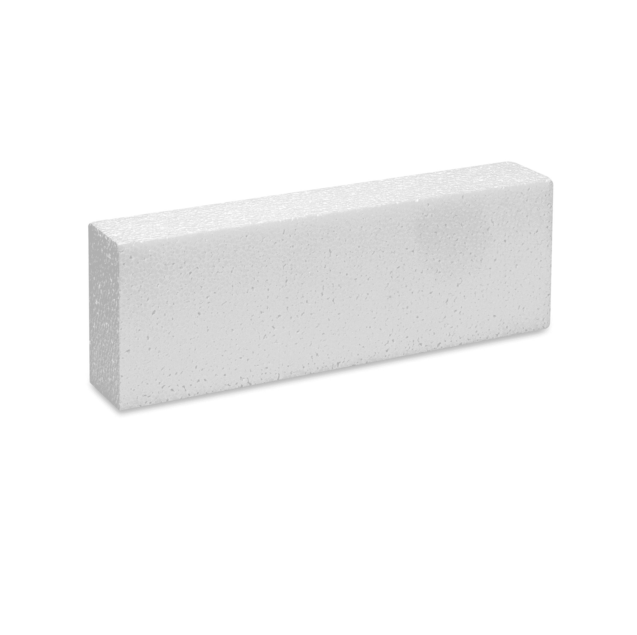 "White Bead Foam Block 2''x4""x12"""