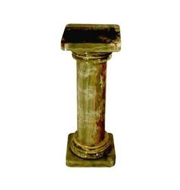 Just Sculpt Green Onyx Column Pedestal 26""