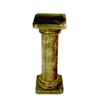 "Green Onyx Column Pedestal 26"""