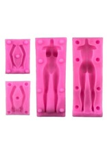 Just Sculpt Silicone Mold Female Figure (4 part)