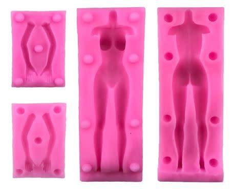 Silicone Mold Female Figure (4 part)