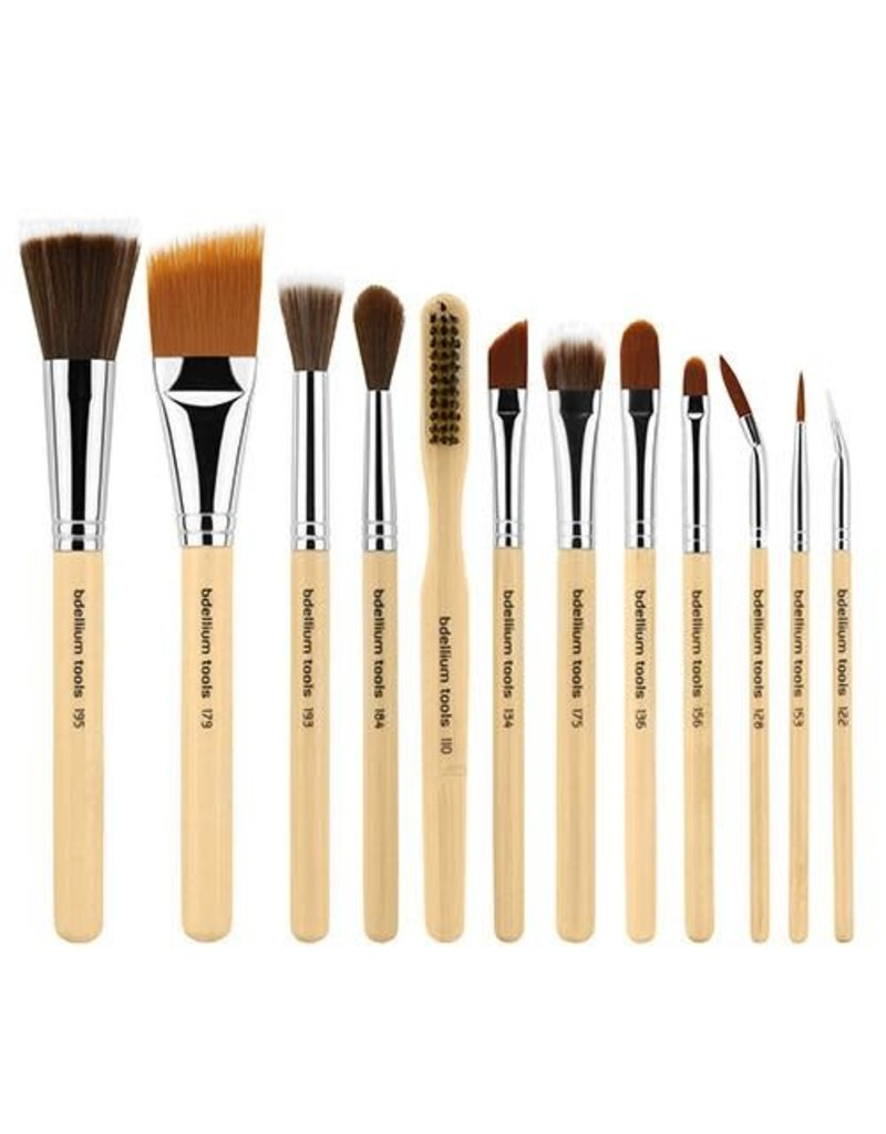 Bdellium Tools SFX Brush Set 12 pc. with Double Pouch (1st Collection)