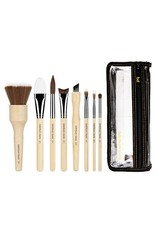 Bdellium Tools SFX Brush Set 8 pc. with Double Pouch (3rd Collection)