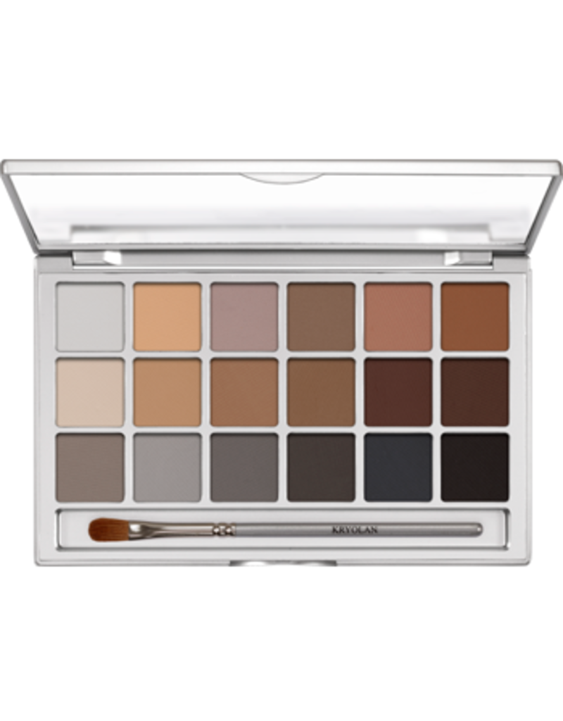 Kryolan Eye Shadow Variety Pallete 18 colors V-3