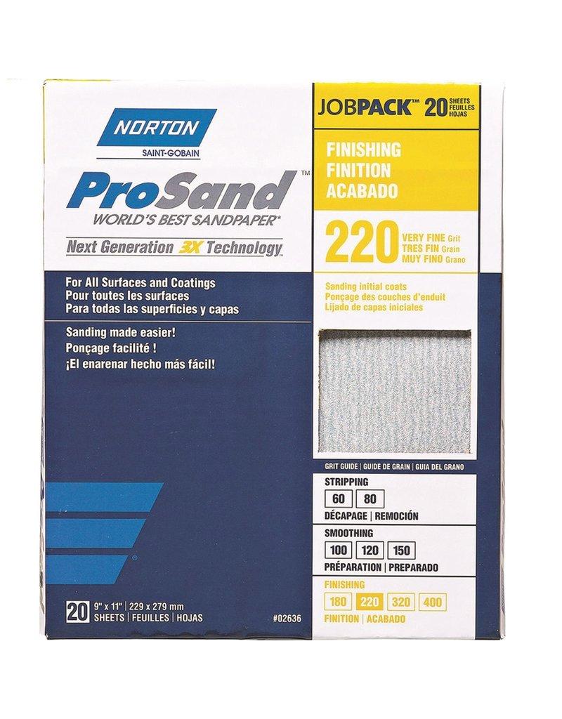 Norton Pro Sand 220 grit 20 pack