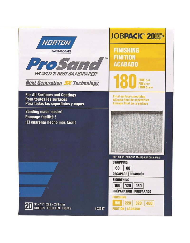 Norton Pro Sand 180 grit 20 pack