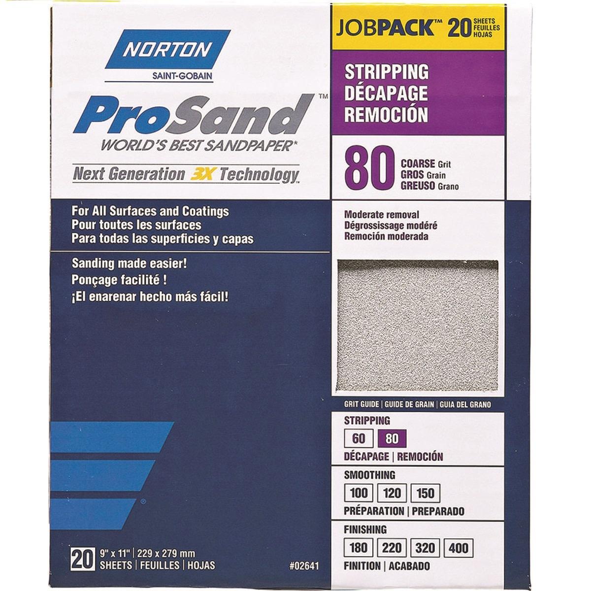 Pro Sand 80 grit 20 pack