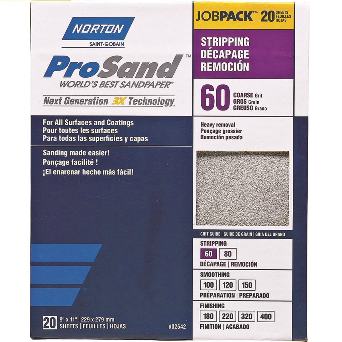 Pro Sand 60 grit 20 pack