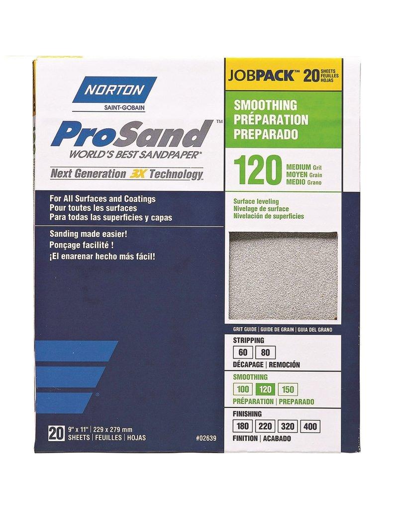 Norton Pro Sand 120 grit 20 pack
