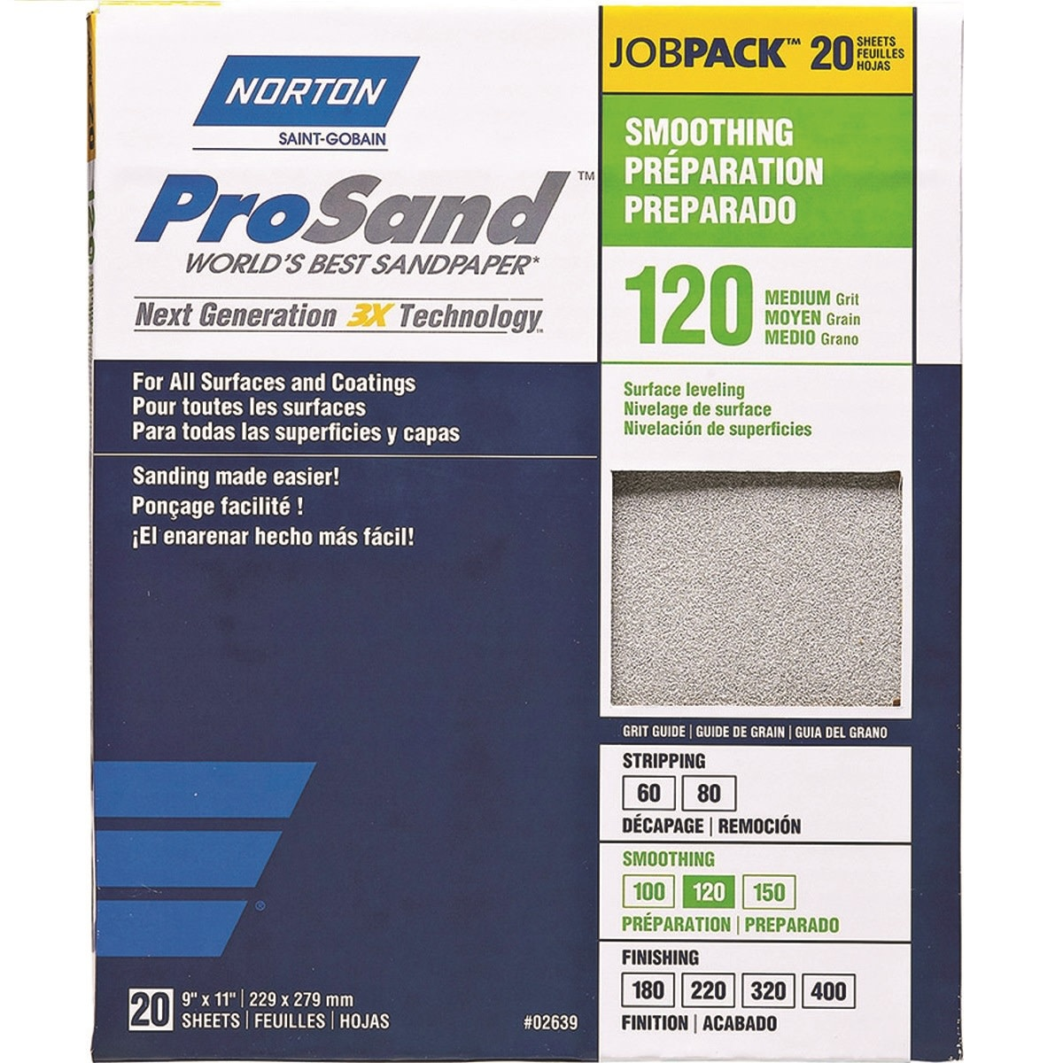 Pro Sand 120 grit 20 pack