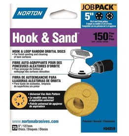 "Norton Hook and Sand 150 grit 5""x 5 and 8 25 pack"