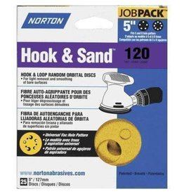 "Hook and Sand 120 grit 5""x 5 and 8 25 pack"