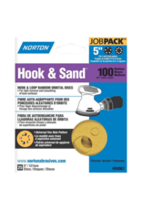 """Hook and Sand 100 grit 5""""x 5 and 8 25 pack"""