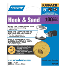 "Norton Hook and Sand 100 grit 5""x 5 and 8 25 pack"