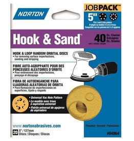 "Hook and Sand 40 grit 5""x 5 and 8 20 pack"