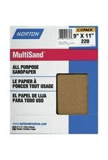 "Multisand Aluminum Oxide 220A 9""x11"" 25pk"