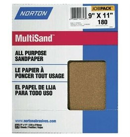"Norton Multisand Aluminum Oxide 180A 9""x11"" 25pk"