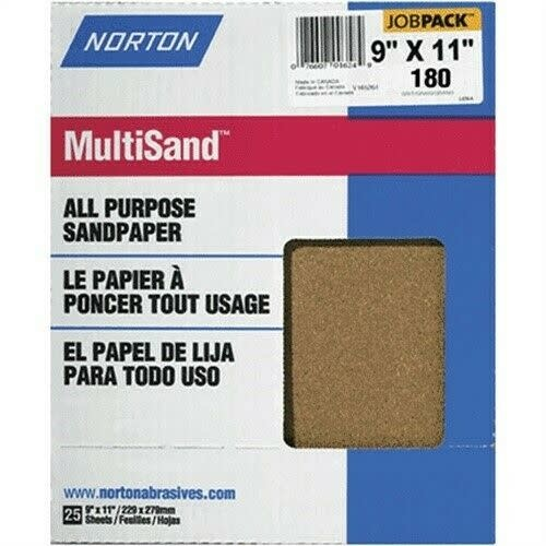 "Multisand Aluminum Oxide 180A 9""x11"" 25pk"