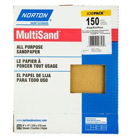"Multisand Aluminum Oxide 150C 9""x11"" 25pk"