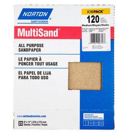 """Norton Multisand Aluminum Oxide 120C 9""""x11"""" 25pk"""